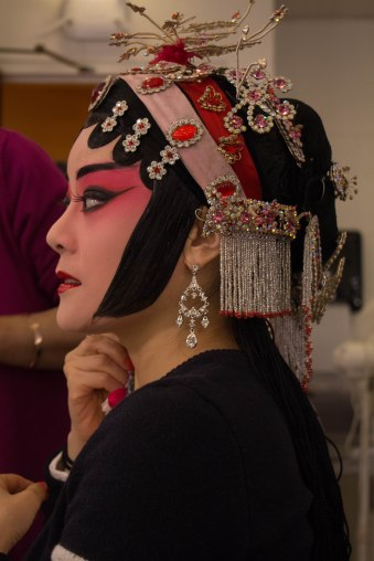 In the dressing room of Schimmel Center at Pace University, Michelle Ling Yang dressing up for her role as Su San in the Su San's Story. Nov.2017