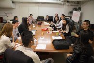 The Youth Troupe of Chinese Opera Society having a conference in their office located in lower Manhattan. Nov. 2017